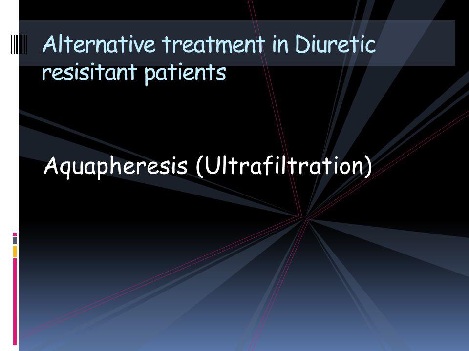 Aquapheresis (Ultrafiltration) Alternative treatment in Diuretic resisitant patients