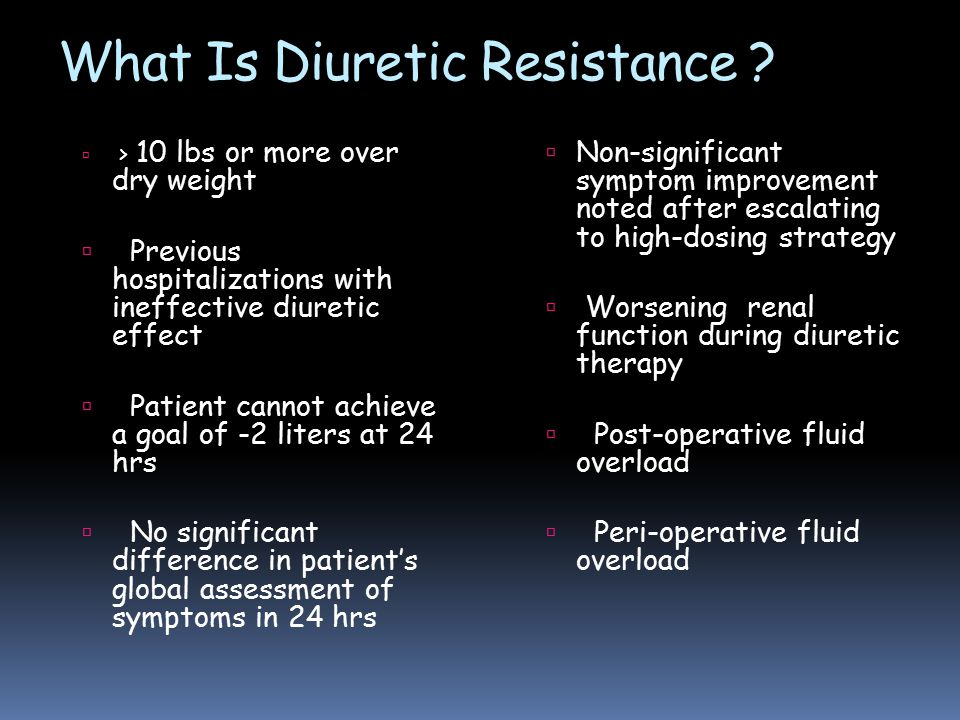 What Is Diuretic Resistance .