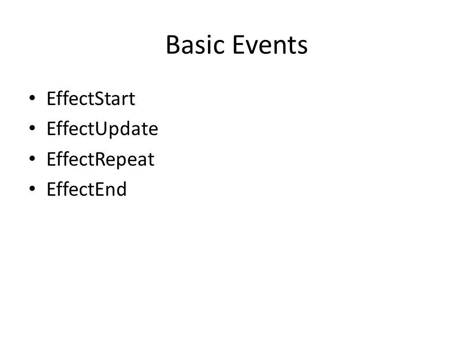 Basic Events EffectStart EffectUpdate EffectRepeat EffectEnd