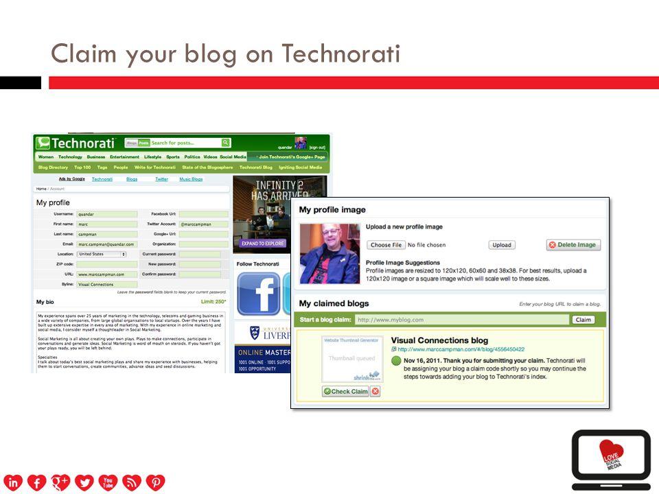 Claim your blog on Blogcatalog.com