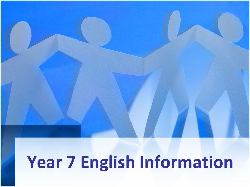 Year 7 English Information