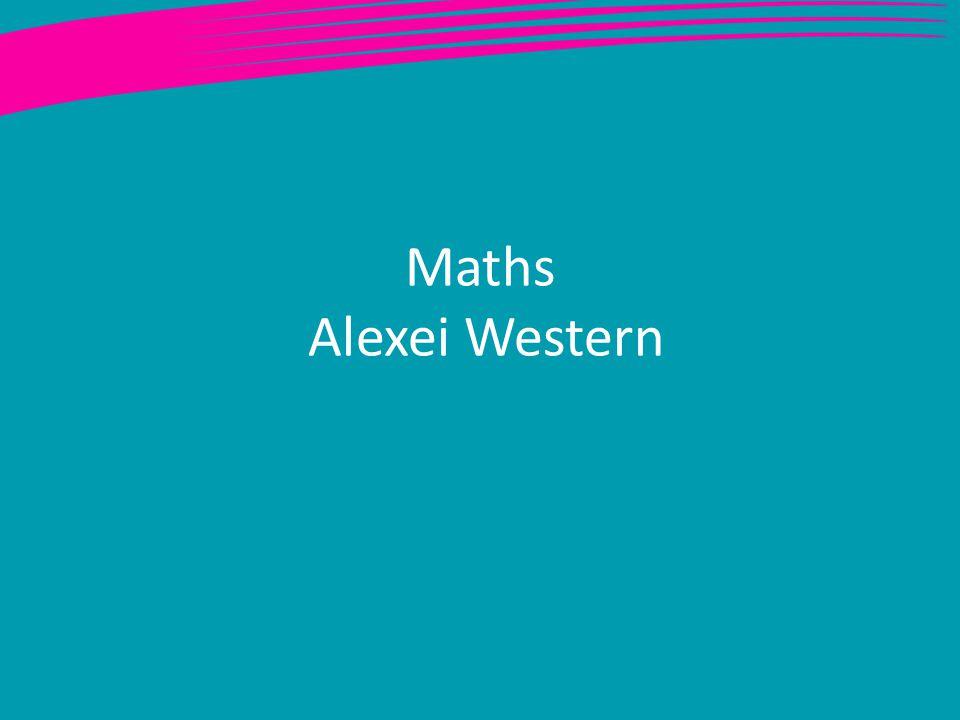 Maths Alexei Western