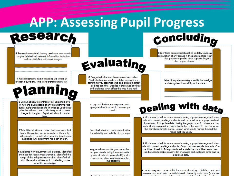 APP: Assessing Pupil Progress