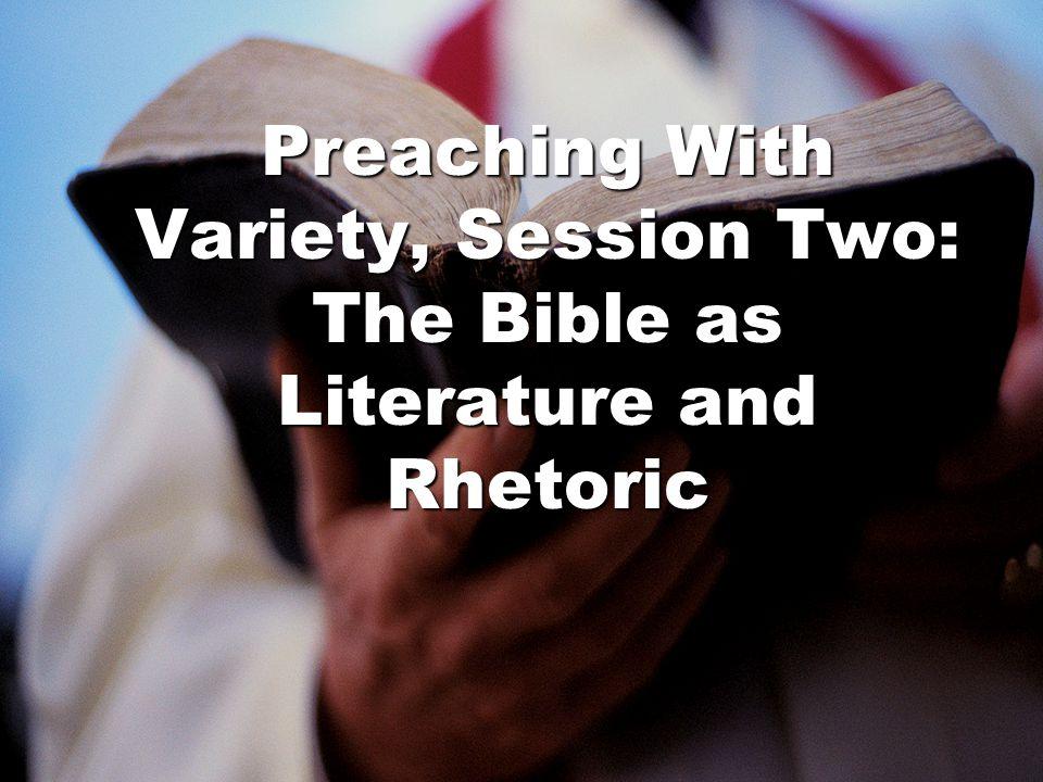 Genre: One way literature and rhetoric intersect LiteratureRhetoric Genre