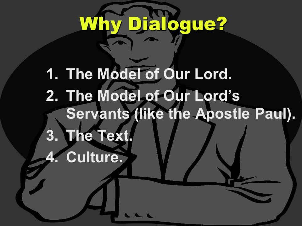 1.The Model of Our Lord. 2.The Model of Our Lord's Servants (like the Apostle Paul).