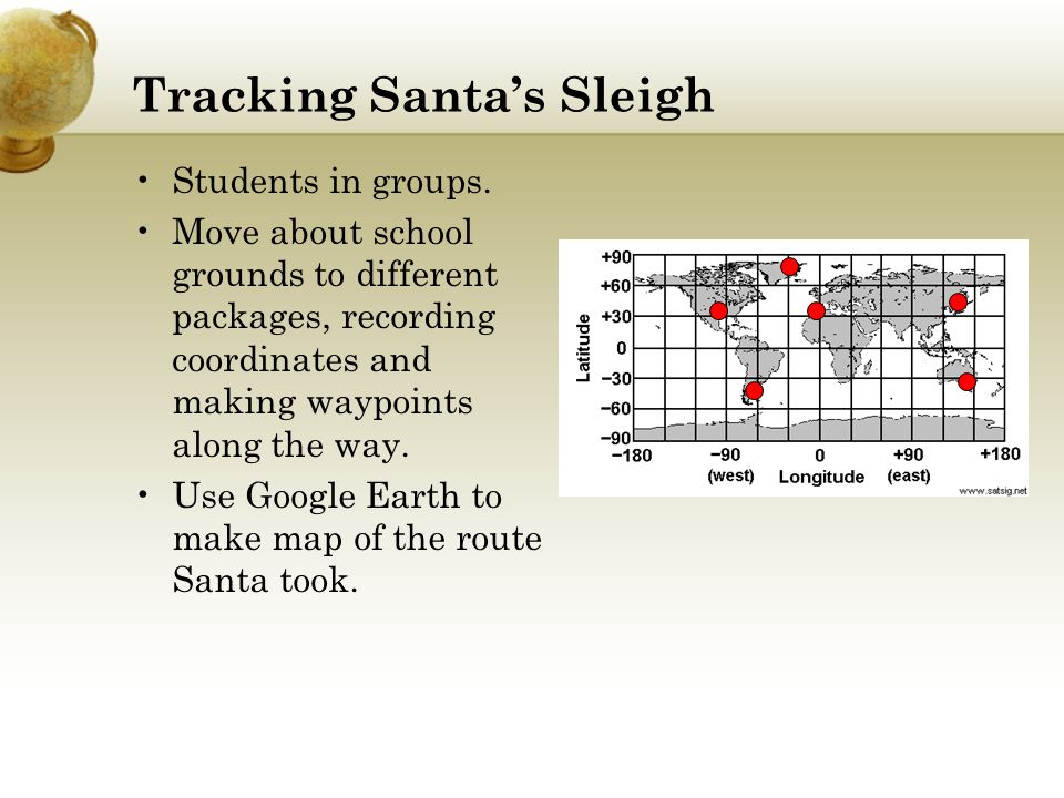 Tracking Santa's Sleigh Students in groups.