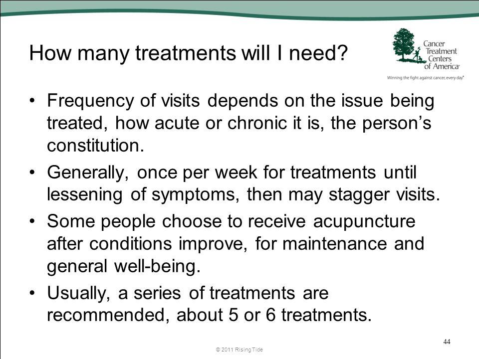 How many treatments will I need.