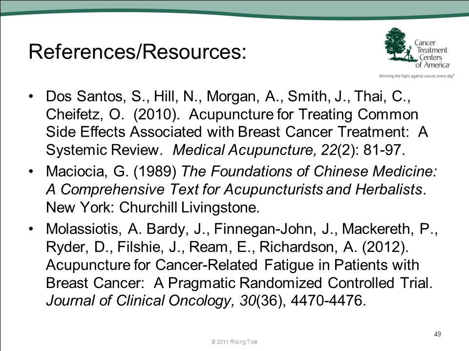 References/Resources: Dos Santos, S., Hill, N., Morgan, A., Smith, J., Thai, C., Cheifetz, O.