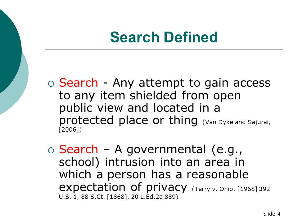 Slide 64 Materials on Search and Seizure  Glossary for Search And Seizure  Definitions  Board Policy 601.11 (Search and Seizure)  Publish Powerpoint On Web Site