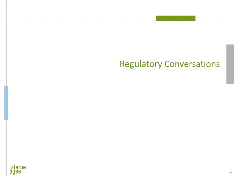 Regulatory Conversations 2