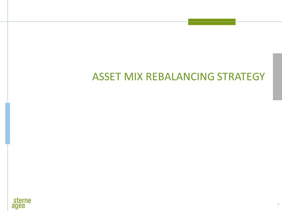 ASSET MIX REBALANCING STRATEGY 7