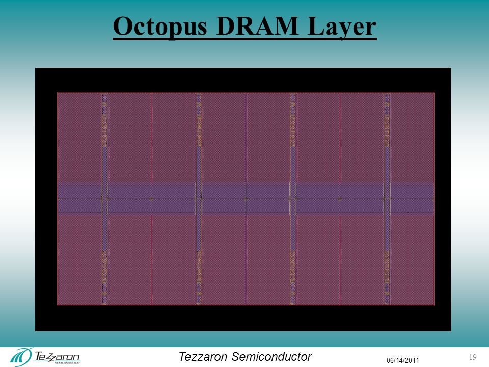 Tezzaron Semiconductor 06/14/2011 Octopus DRAM Layer 19