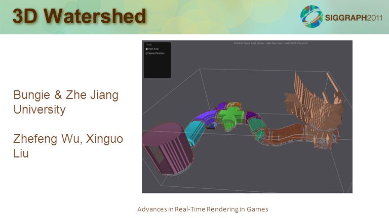 Advances in Real-Time Rendering in Games 3D Watershed Bungie & Zhe Jiang University Zhefeng Wu, Xinguo Liu