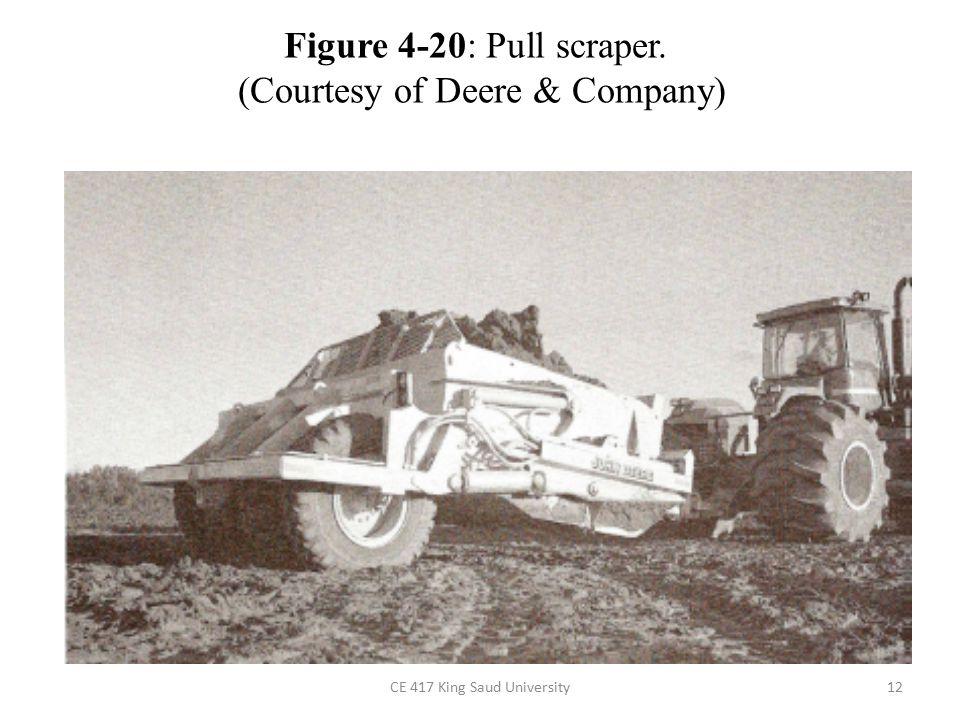 CE 417 King Saud University12 Figure 4-20: Pull scraper. (Courtesy of Deere & Company)