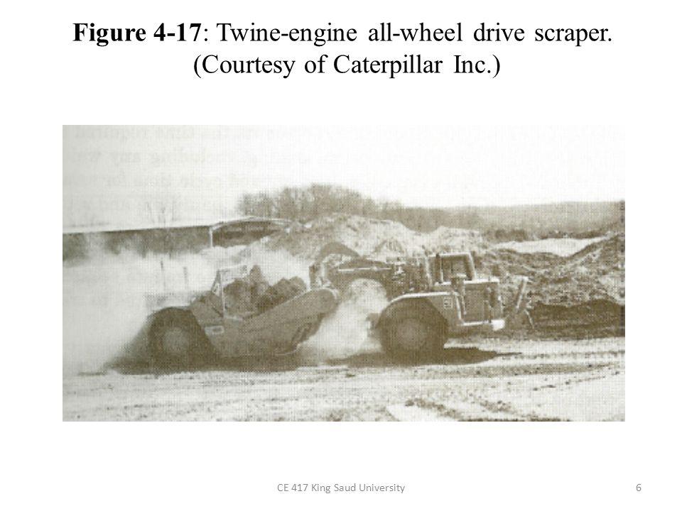 6 Figure 4-17: Twine-engine all-wheel drive scraper. (Courtesy of Caterpillar Inc.)