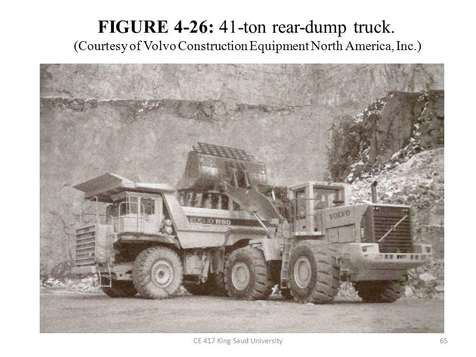 CE 417 King Saud University65 FIGURE 4-26: 41-ton rear-dump truck.
