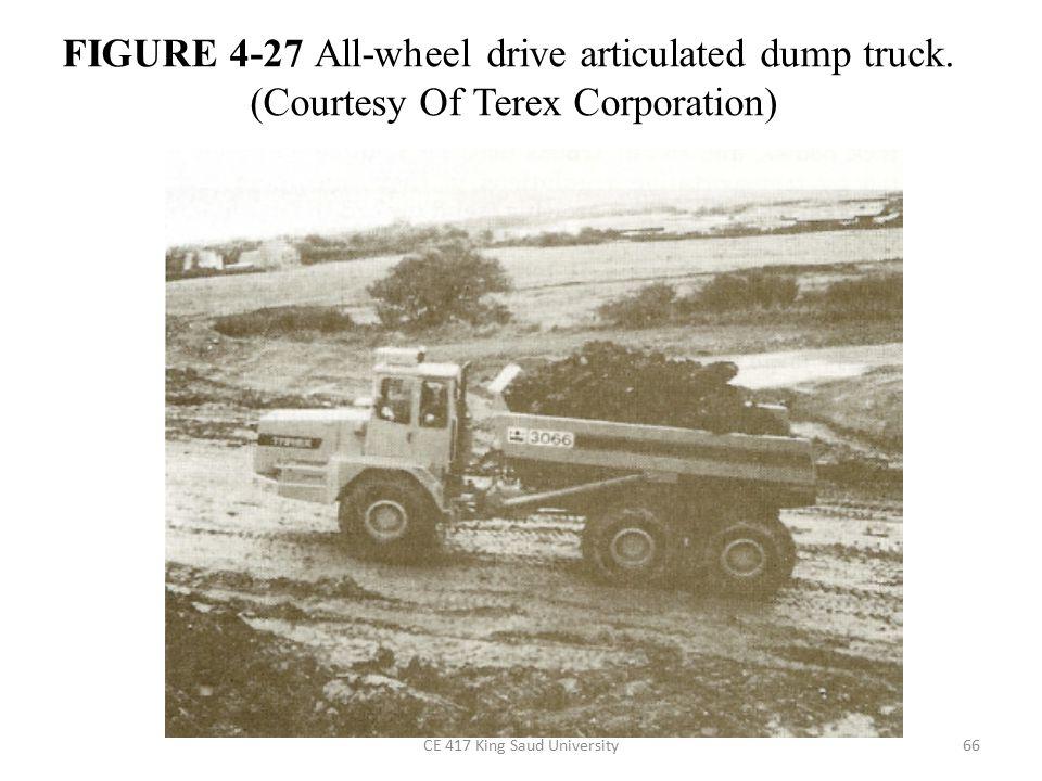 CE 417 King Saud University66 FIGURE 4-27 All-wheel drive articulated dump truck.