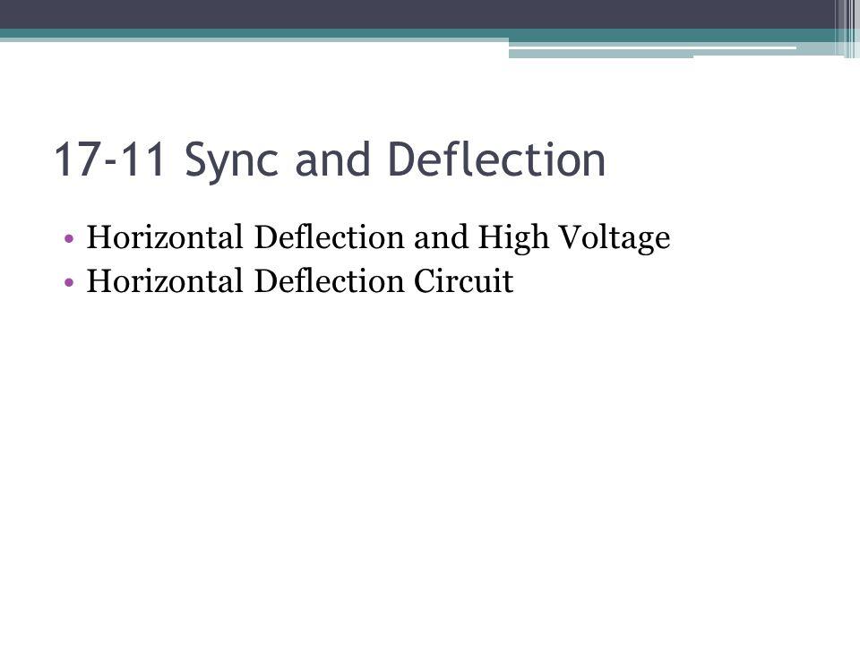 17-11 Sync and Deflection Horizontal Deflection and High Voltage Horizontal Deflection Circuit