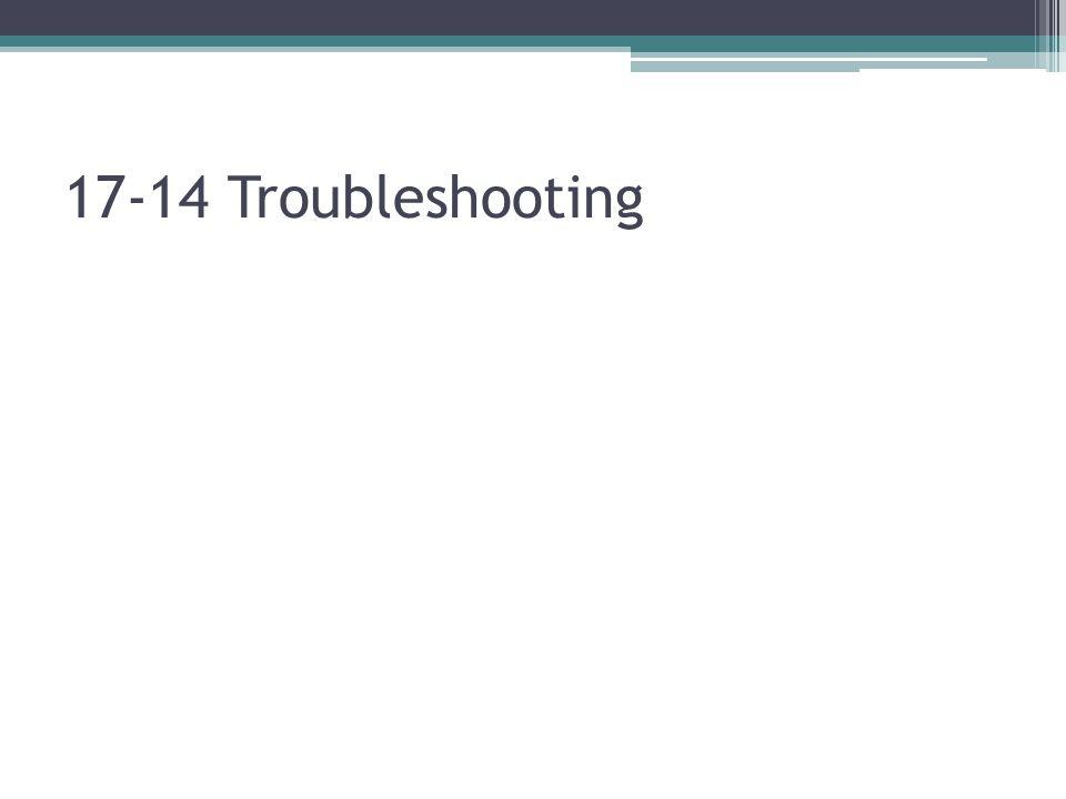 17-14 Troubleshooting