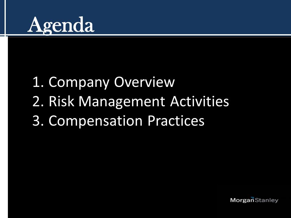 Risk Management Philosophy Five Key Principles Comprehensiveness Independence Accountability Defined risk tolerance Transparency.