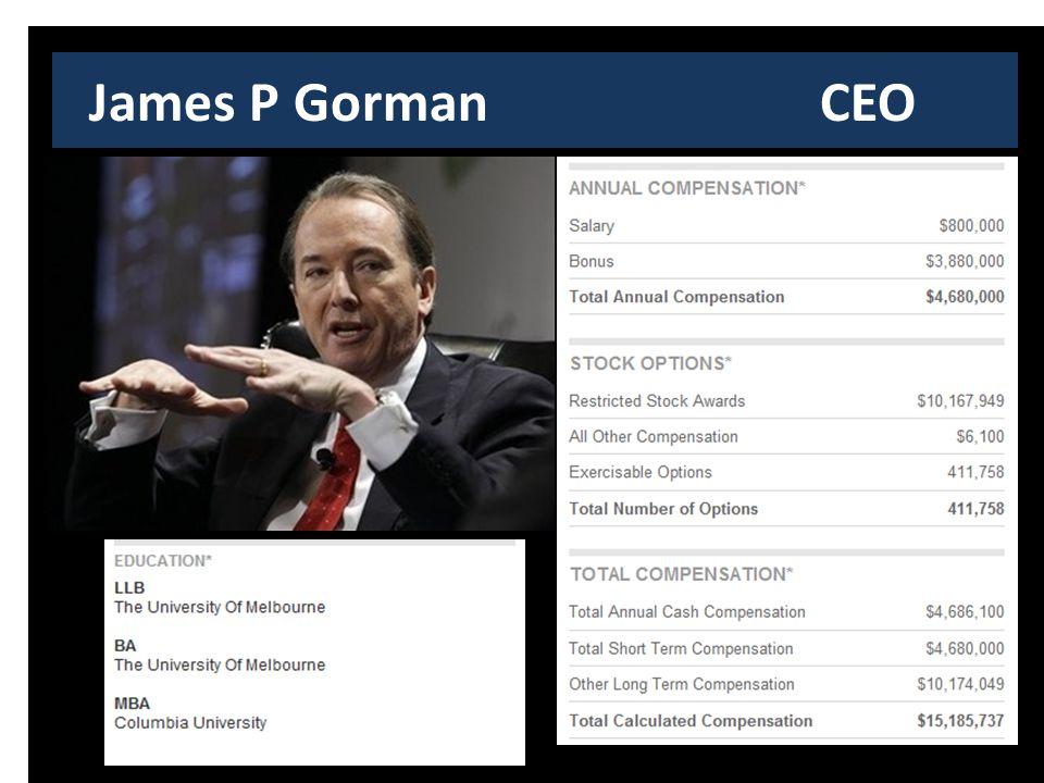 James P Gorman CEO