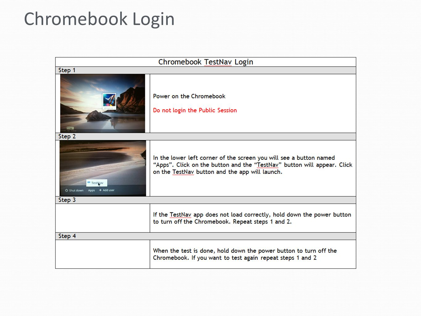 Chromebook Login
