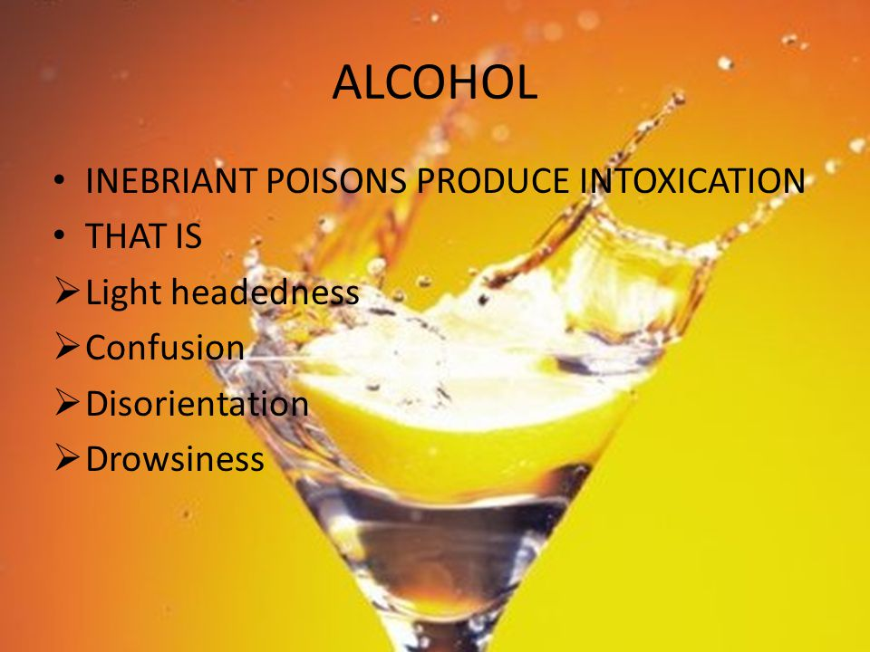 (18) Laboratory Investigations: The degree of intoxication can be estimated by the concentration of alcohol in the blood, urine, breath, or saliva.