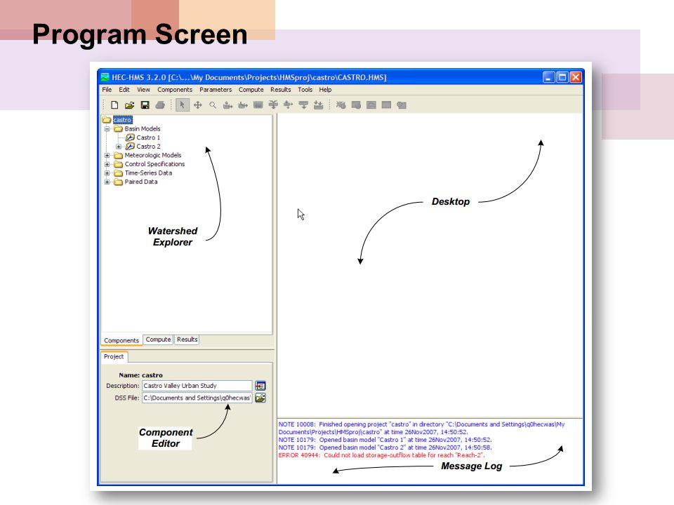 Program Screen
