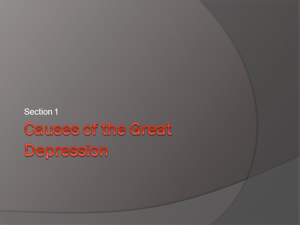 What Caused the Great Depression  People disagree on the exact causes of the Great Depression.