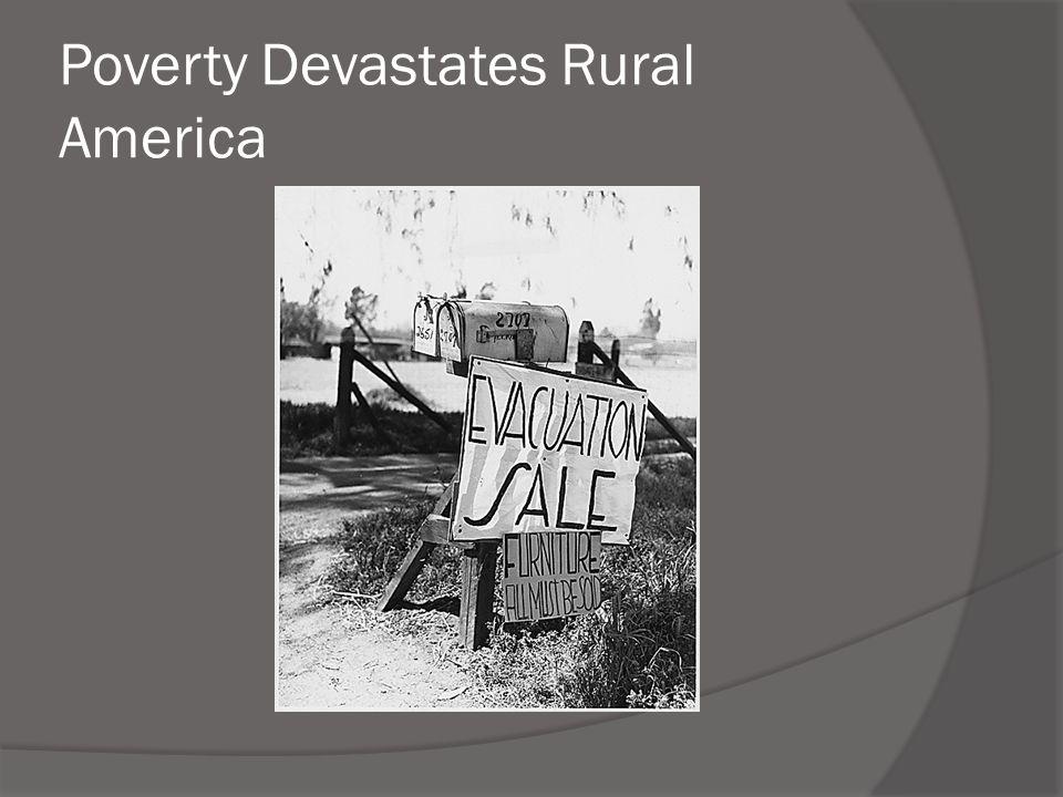 Poverty Devastates Rural America