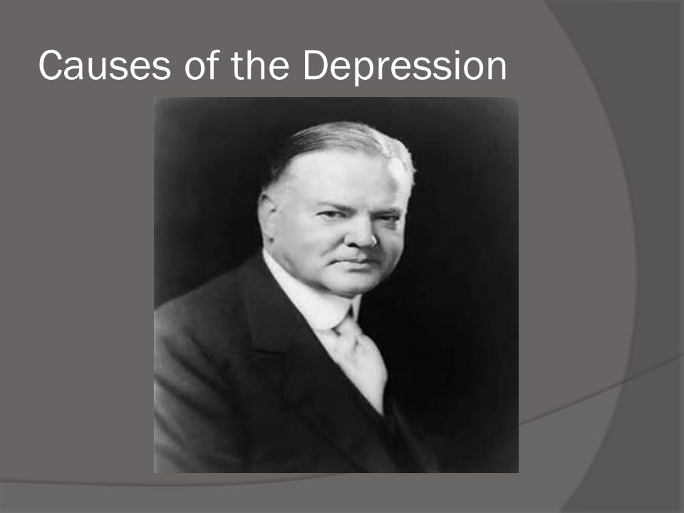 Causes of the Depression  They did spend a great deal on consumer products, but not enough to keep the economy booming.