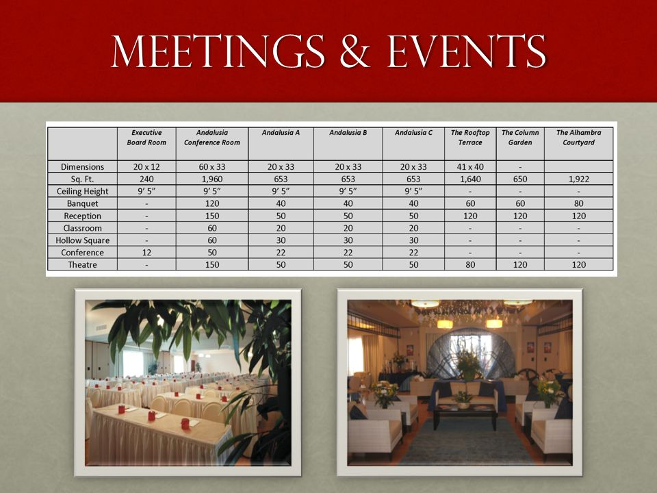 Meetings & events
