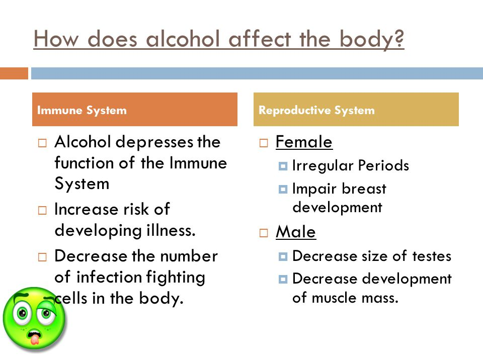 How does alcohol affect the body.