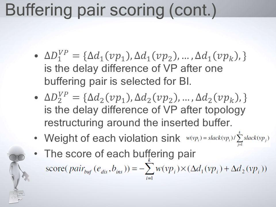 Buffering pair scoring (cont.)