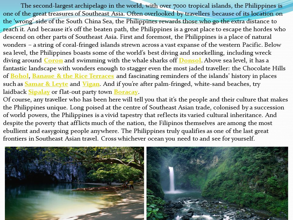 The Philippines aboriginal inhabitants arrived from the Asian mainland around 25,000 BC They were followed by waves of Indonesian and Malayan settlers from 3000 BC onward.