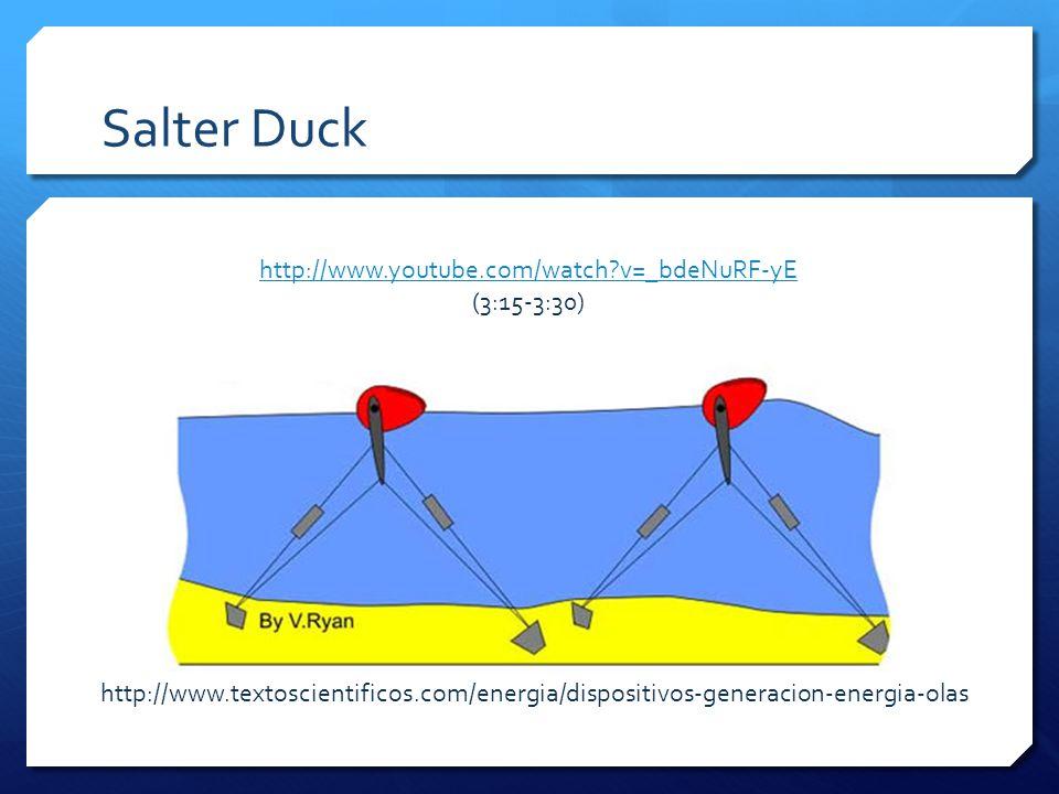 Salter Duck http://www.textoscientificos.com/energia/dispositivos-generacion-energia-olas http://www.youtube.com/watch v=_bdeNuRF-yE (3:15-3:30)