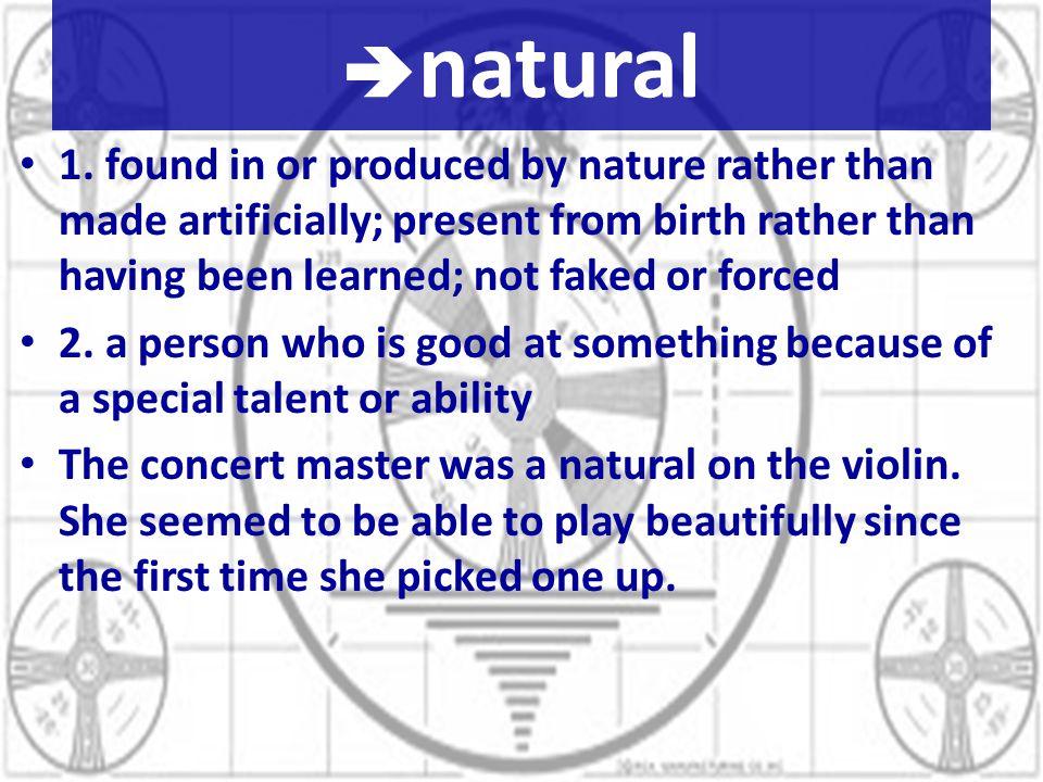 natural 1.