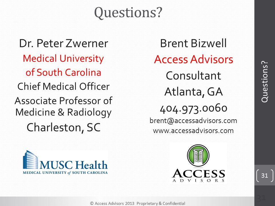 © Access Advisors 2013 Proprietary & Confidential 31 Brent Bizwell Access Advisors Consultant Atlanta, GA 404.973.0060 brent@accessadvisors.com www.accessadvisors.com Dr.