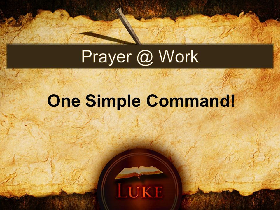 One Simple Command!