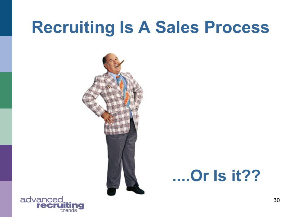 30 Recruiting Is A Sales Process....Or Is it