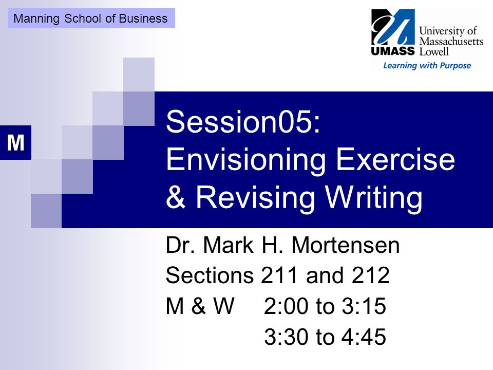 Mortensen Consulting Group Session 5 Turn in Assignment A Have bought the text books online.