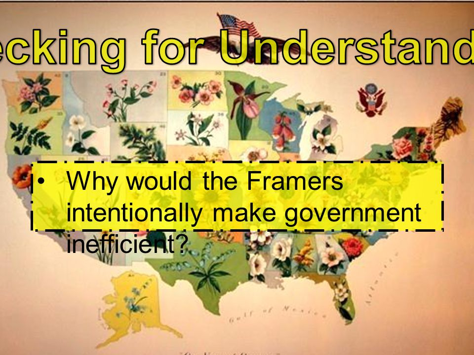 Why would the Framers intentionally make government inefficient?
