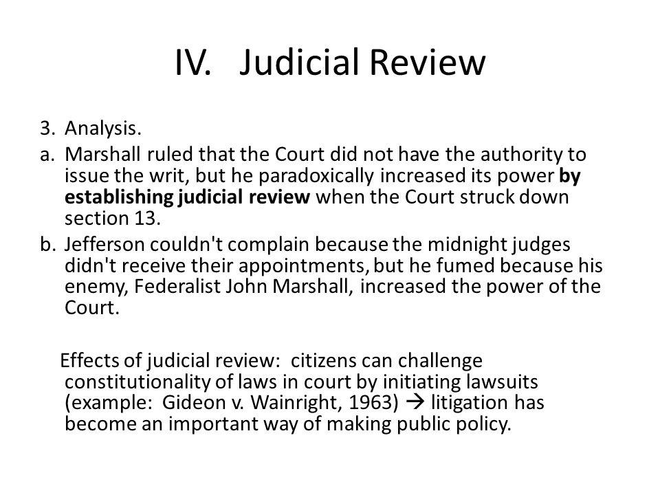 IV.Judicial Review 3.Analysis.