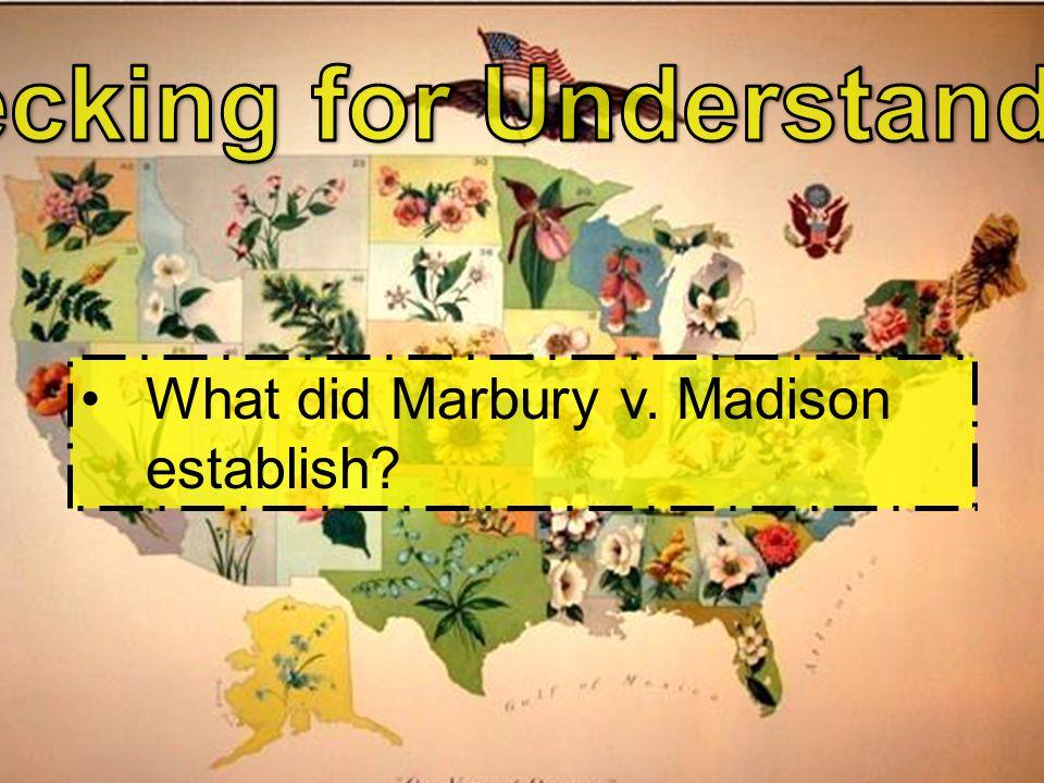What did Marbury v. Madison establish