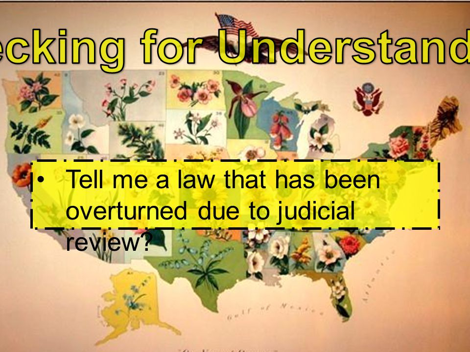Tell me a law that has been overturned due to judicial review?