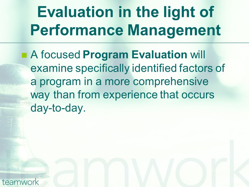 Selected Models & Approaches Utilization-Focused Evaluation.