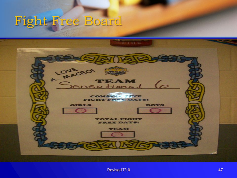 Fight Free Board Revised 7/1047