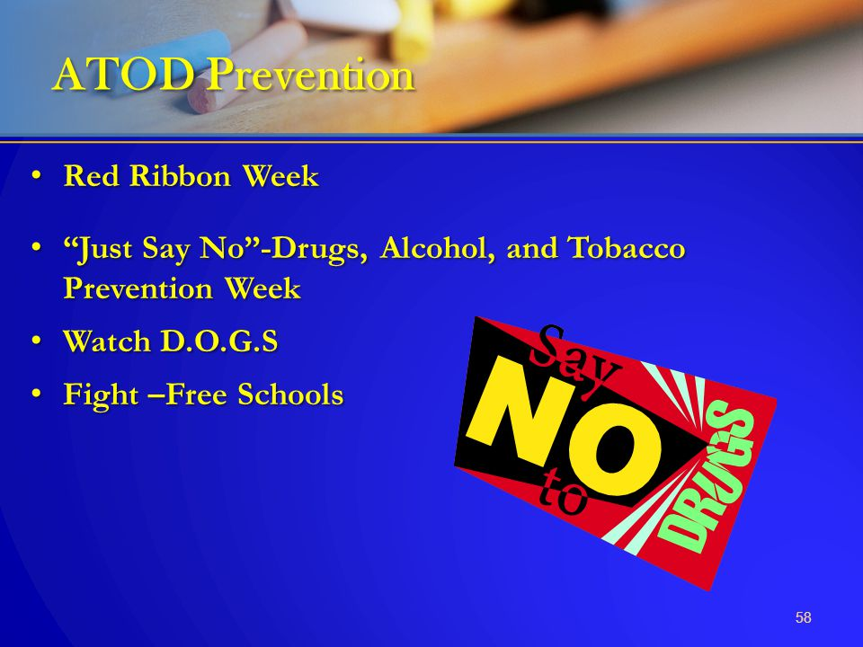 "Red Ribbon Week Red Ribbon Week ""Just Say No""-Drugs, Alcohol, and Tobacco Prevention Week ""Just Say No""-Drugs, Alcohol, and Tobacco Prevention Week Wa"