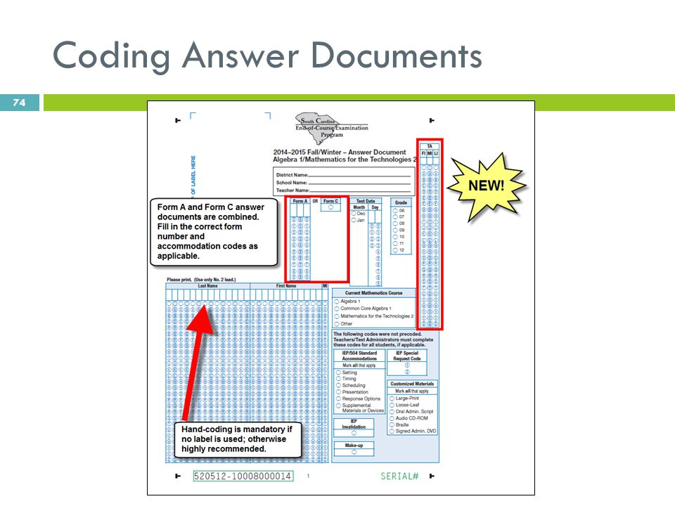 Coding Answer Documents 74