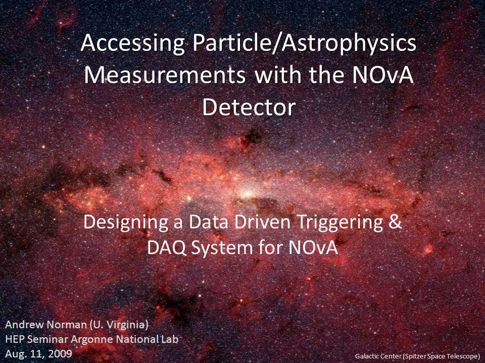 Seminar Outline The NOvA Detector The NOvA Detector Basic Design as a ¹ range-stack/ EM calorimeter The DAQ & Triggering Base Design and Redesign Advantages &Limitations Data Driven Triggering Model NOvA's Core Measurements NOvA's Core Measurements Neutrino Osc.